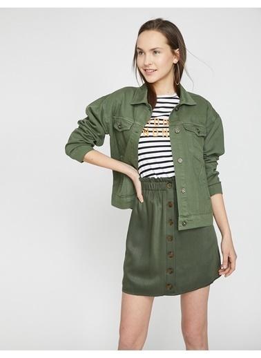 Koton Mini Etek Yeşil